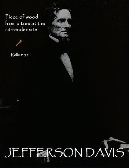 Todd Mueller Relic Card 055 - Jefferson Davis