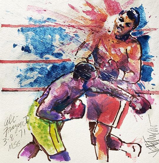 FIGHT OF THE CENTURY Muhammad Ali vs Frazier Original by Joe Petruccio