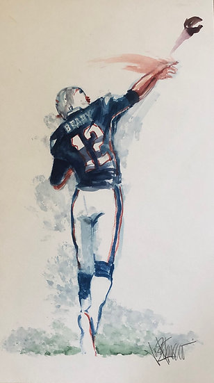 LETTING IT LOOSE Tom Petty Patriots Original Watercolor by Joe Petruccio