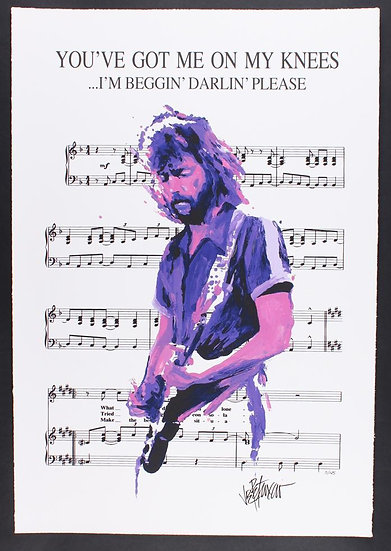 Eric Clapton - YOU'VE GOT ME ON MY KNEES Limited Edition Fine Art Sheet Music