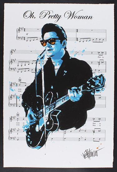 Roy Orbison - OH, PRETTY WOMAN Limited Edition Fine Art Sheet Music