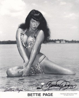 Bettie Page Autographed Bunny Yeager 8x10 1950s Pin-up Photo 045