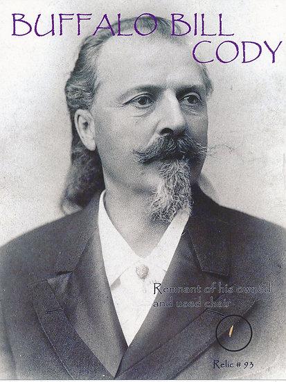 Todd Mueller Relic Card 093 - Buffalo Bill Cody