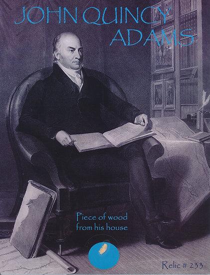 Todd Mueller Relic Card 233 - President John Quincy Adams