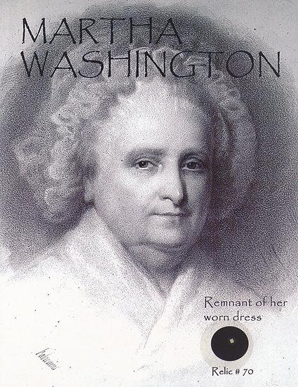 Todd Mueller Relic Card 070 - First Lady Martha Washington