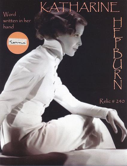 Todd Mueller Relic Card 240 - Katharine Hepburn Handwriting
