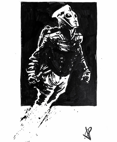 16 ROCKET Original Ink on Paper by Joe Petruccio ROCKETEER