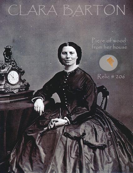 Todd Mueller Relic Card 206 - Clara Barton