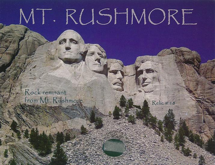 Todd Mueller Relic Card 018 - Mt Rushmore Rock