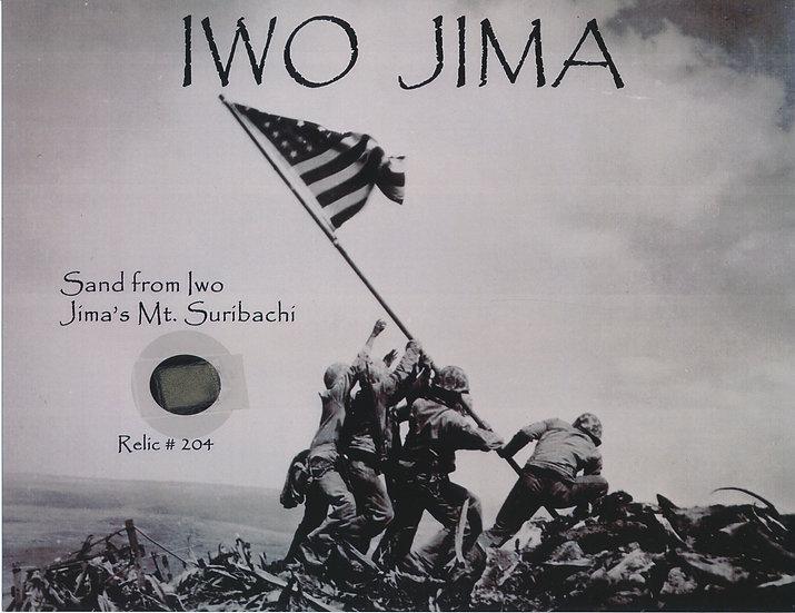 Todd Mueller Relic Card 204 - Iwo Jima Mount Suribachi