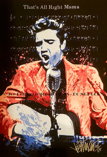 Elvis Presley THATS ALL RIGHT MAMA Limited Edition Fine Art on Sheet Music