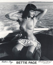 Bettie Page Autographed Bunny Yeager 8x10 1950s Pin-up Photo 021