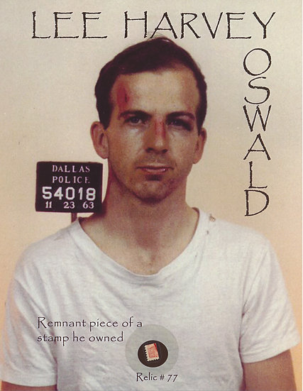 Todd Mueller Relic Card 077 - Lee Harvey Oswald Stamp Collection