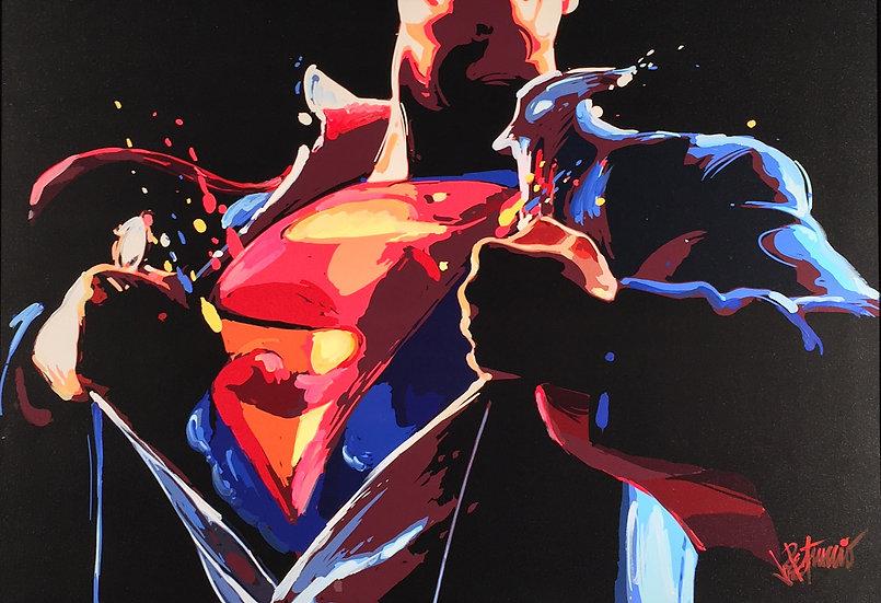 SUPERMAN: The Man of Steel Limited Edition Fine Art Giclee on Canvas (Medium)