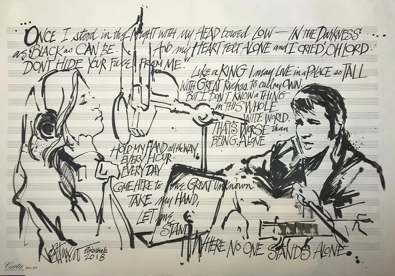 Elvis Presley - DUET WITH DADDY Original Art by Joe Petruccio