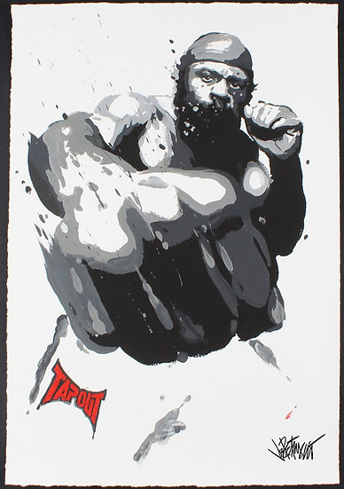 KIMBO SLICE The King of the Web Brawlers Fine Art by Joe Petruccio