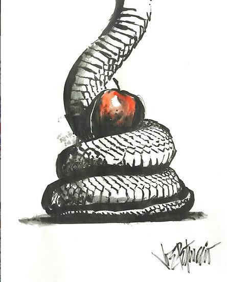 03 BAIT Original Ink on Paper by Joe Petruccio