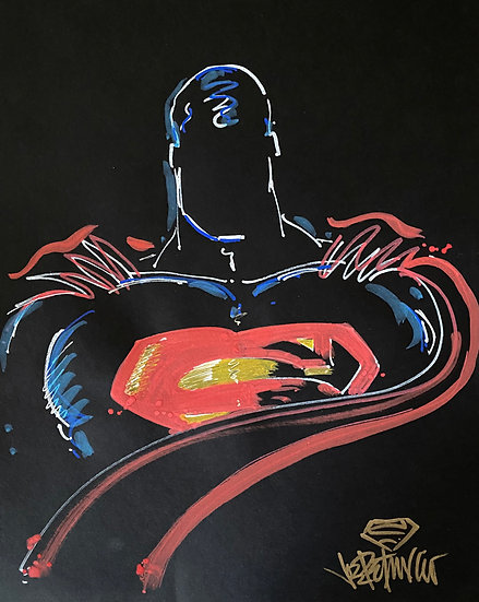 BE SUPER Original Drawing by Joe Petruccio - SUPERMAN