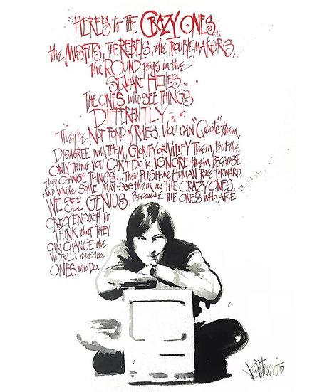 18 MISFIT Original Ink on Paper by Joe Petruccio - Steve Jobs