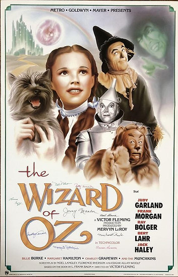Wizard of Oz Original Munchkins Autographed Movie Poster