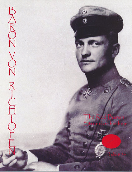 Todd Mueller Relic Card 074 - Baron von Richtofen The Red Baron Hair