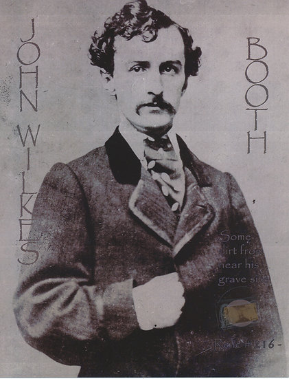 Todd Mueller Relic Card 216 - John Wilkes Booth Gravesite