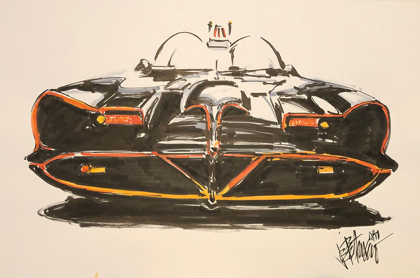 28 RIDE Original Ink on Paper by Joe Petruccio - Batman