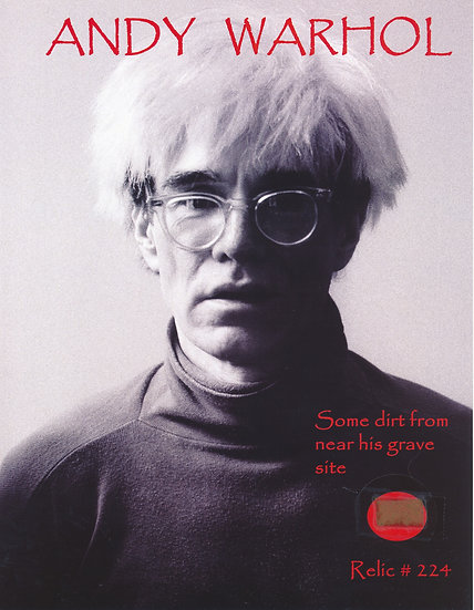 Todd Mueller Relic Card 224 - Andy Warhol Gravesite