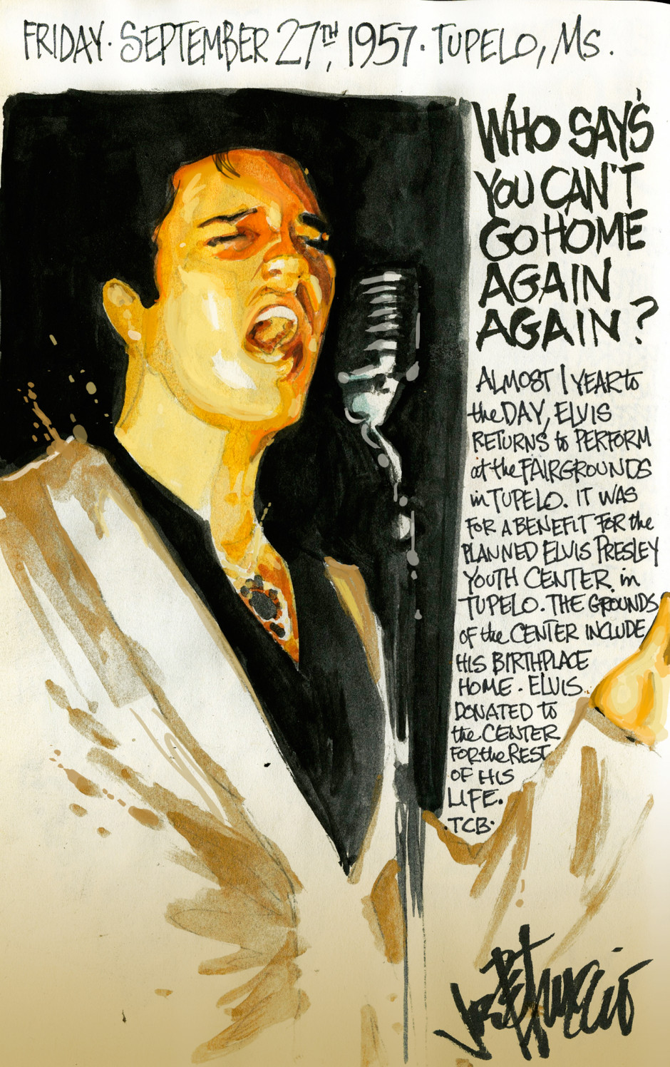 THIS DAY IN ELVIS HISTORY... WHO SAY'S YOU CAN'T GO HOME AGAIN AGAIN?