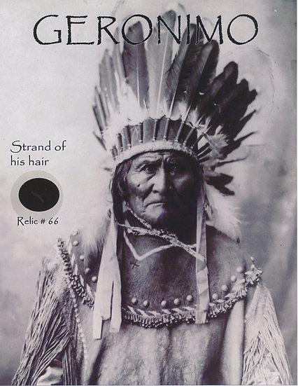 Todd Mueller Relic Card 066 - Geronimo