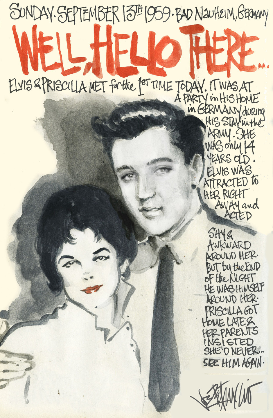 THIS DAY IN ELVIS HISTORY... WELL, HELLO THERE