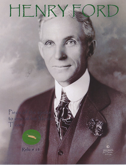 Todd Mueller Relic Card 015 - Henry Ford Owned Ford Model-T