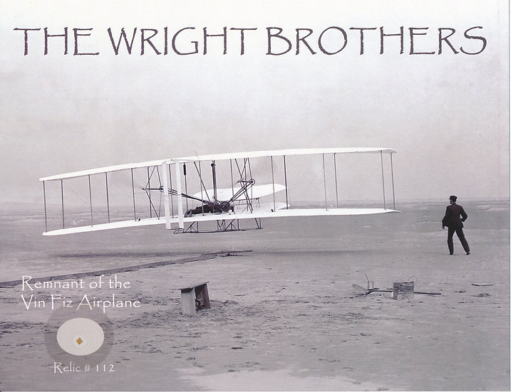 Todd Mueller Relic Card 112 - The Wright Brothers