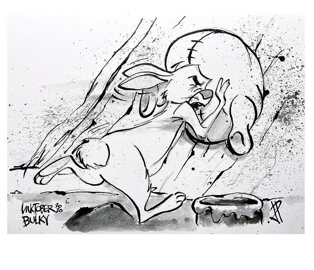 03 BULKY Original Ink on Paper by Joe Petruccio Winnie The Pooh