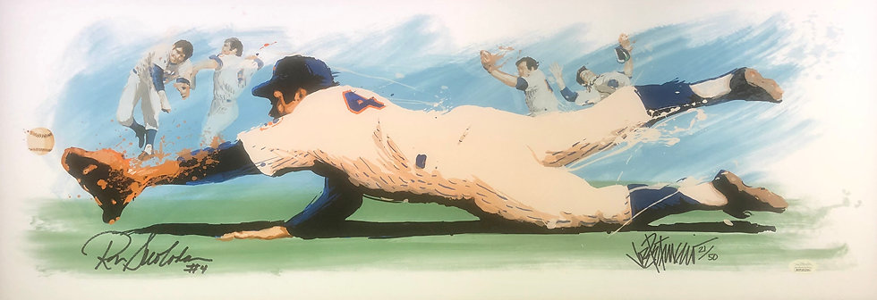 Ron Swoboda THE CATCH by Joe Petruccio Signed METS Limited Edition Fine Art