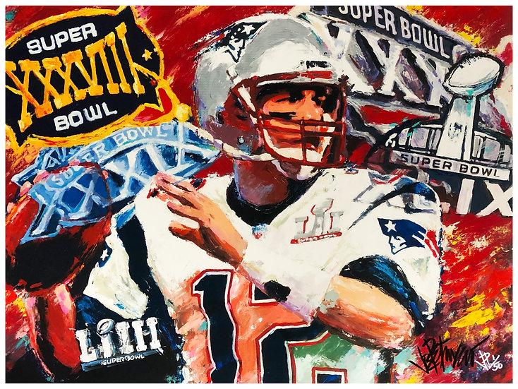 THE JOY OF 6 Tom Brady Limited Edition Fine Art by Joe Petruccio