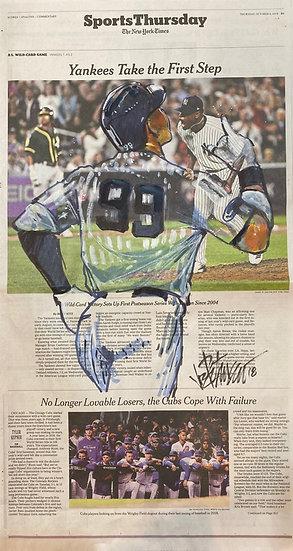 JUDGE THIS Aaron Judge Yankees Original NY Times Art by Joe Petruccio