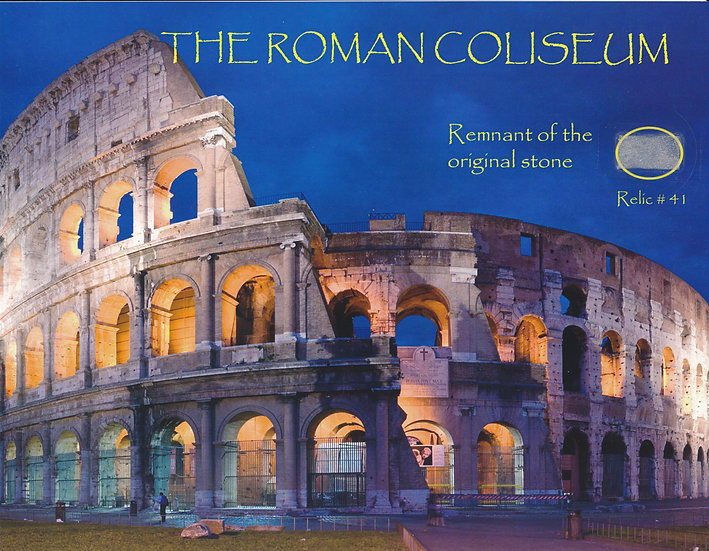Todd Mueller Relic Card 041 - The Roman Coliseum