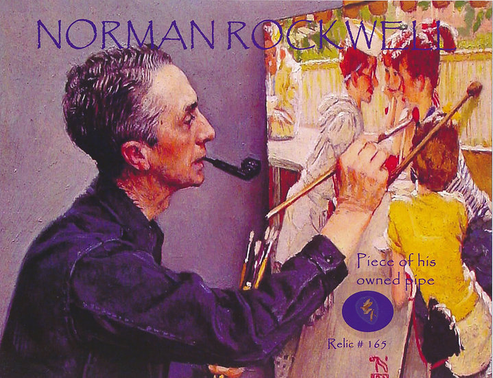 Todd Mueller Relic Card 165 - Norman Rockwell Pipe