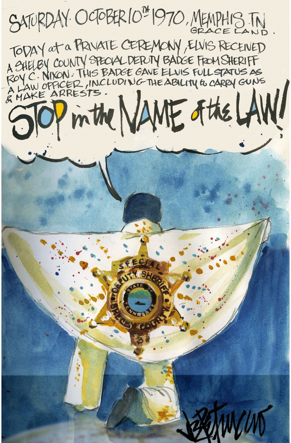 THIS DAY IN ELVIS HISTORY... STOP IN THE NAME OF THE LAW!