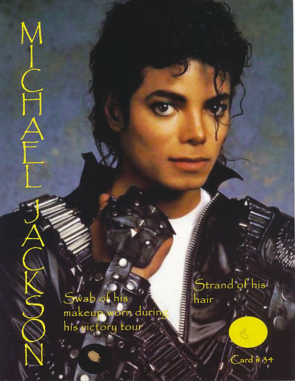 Todd Mueller Relic Card 034 - Michael Jackson Hair and Makeup