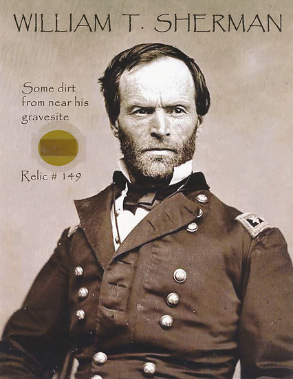 Todd Mueller Relic Card 149 - General William T. Sherman Gravesite