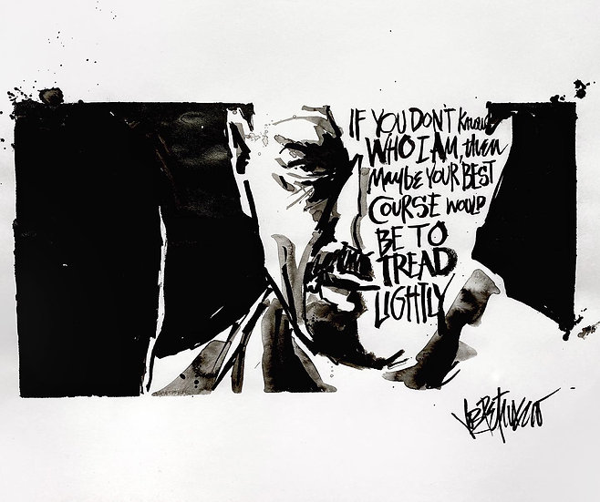 20 TREAD Original Ink on Paper by Joe Petruccio - Breaking Bad