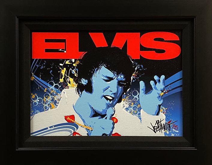 Elvis Presley CAN'T STOP LOVIN' YOU Framed Fine Art by Joe Petruccio