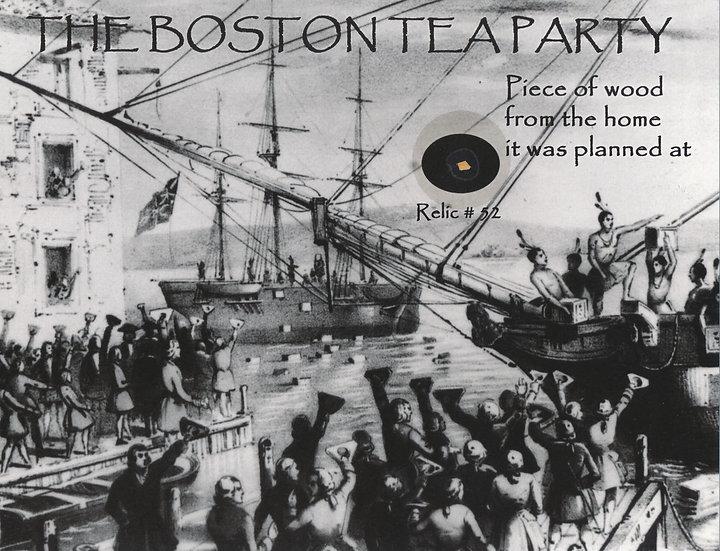 Todd Mueller Relic Card 052 - Boston Tea Party