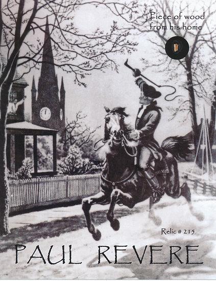 Todd Mueller Relic Card 215 - Paul Revere Boston Home