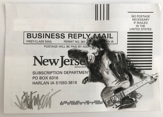 Bruce Springsteen - Born To Run Original Fine Art Watercolor Subscription Card