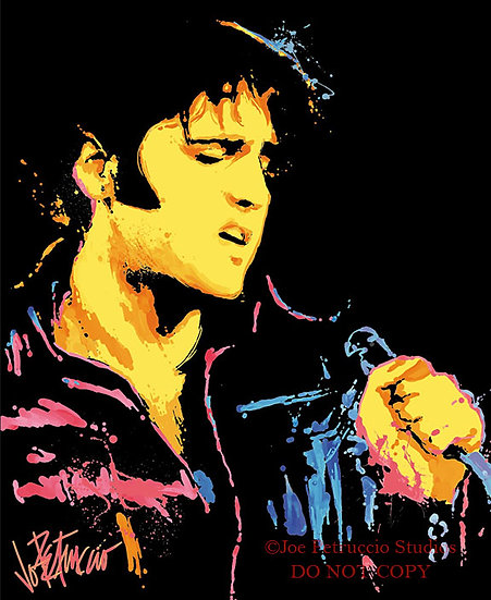 Elvis Presley - NEON ELVIS Limited Edition Giclee on Canvas