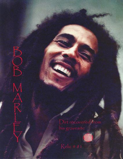 Todd Mueller Relic Card 081 - Bob Marley Gravesite