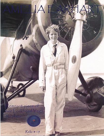 Todd Mueller Relic Card 019 - Amelia Earhart Lockheed Vega Plane